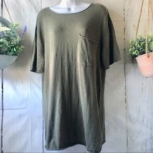 NWT Olive Army Green Lightweight Sweater Tee